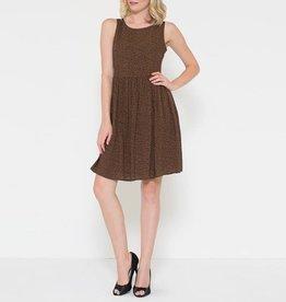 Esley Daisy Print Sleeveless A-Line Dress