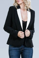 ark & co One Button Blazer with Contrast Lapel