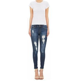 Hammer Destroyed Dark Wash Skinny Jeans