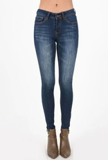 Hammer Faded Dark Wash Skinny Jeans with Whiskering