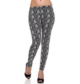 2NE1 Fleece Lined Print Ankle Leggings