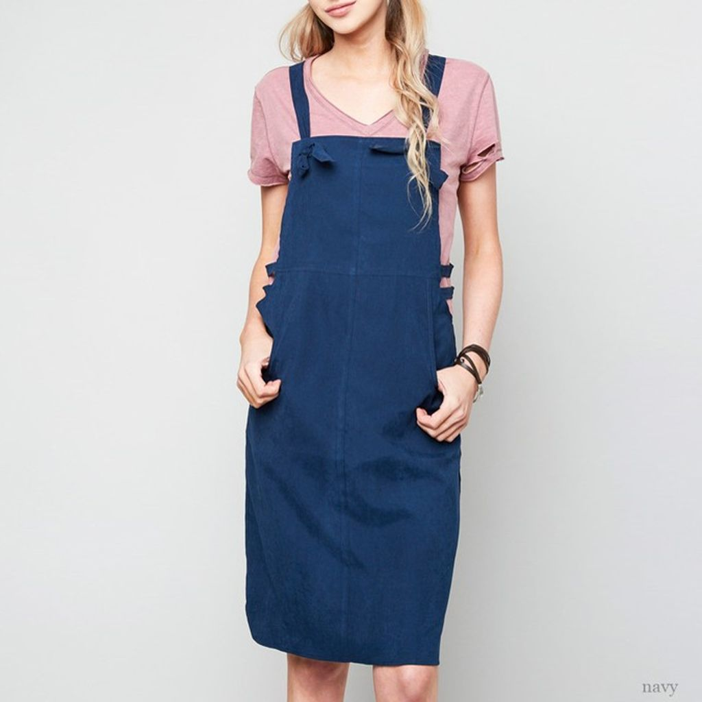 Hayden Cutout Midi Pinafore Dress