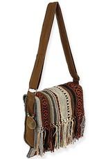 Catori Medium Flap Over Crossbody Bag with Long Fringe