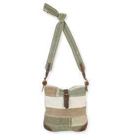 Catori Upcycled Army Tent Small Buckle Crossbody Bag