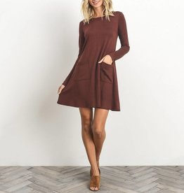Gilli Long Sleeve Swing Dress with Pockets