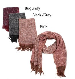 David & Young Oblong Blanket Scarf with Fringe