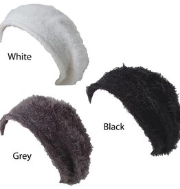 David & Young Solid Feather Knit Beret