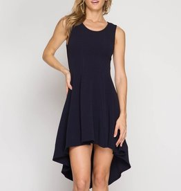 She & Sky Sleeveless Hi-Lo Fit & Flare Dress