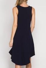 She & Sky Hi-Lo Fit & Flare Dress