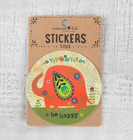 "Natural Life 3pc Sticker Set ""Be Happy"""