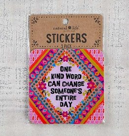 """Natural Life 3pc Sticker Set """"One Kind Word"""""""