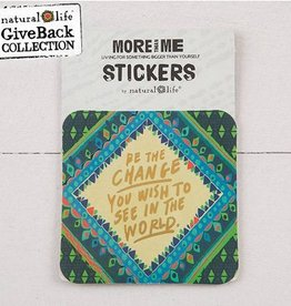 """Natural Life 3pc Sticker Set """"Be The Change"""""""