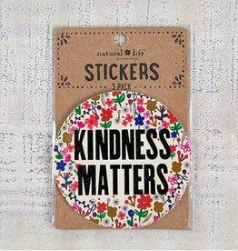 "Natural Life 3pc Sticker Set ""Kindness Matters"""