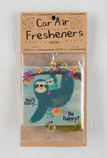 "Natural Life Air Freshener ""Don't Hurry Be Happy"" Sloth"