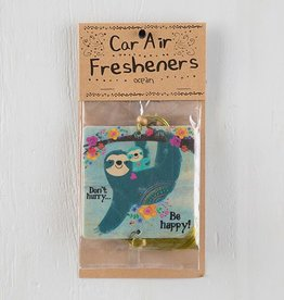 "Natural Life Air Freshener ""Don't Hurry Be Happy"" Sloth"