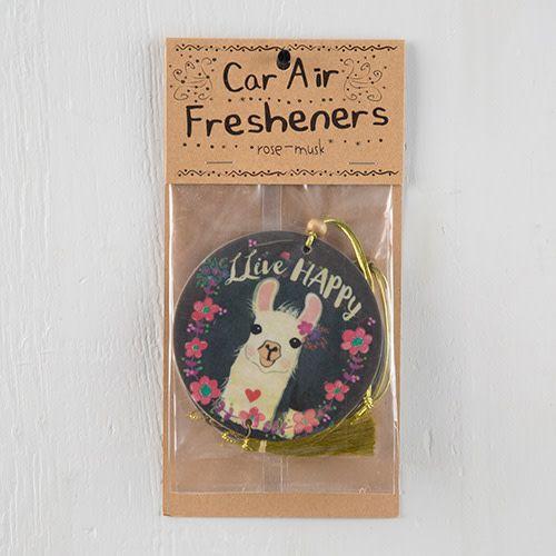 "Natural Life Air Freshener ""Live Happy"" Llama"