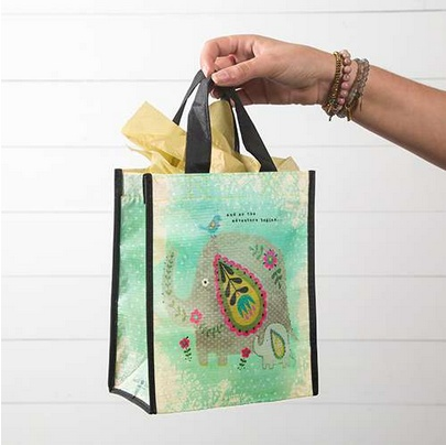 "Natural Life Gift Bag ""And So The Adventure Begins"" Elephant"