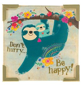 "Natural Life Corner Magnet ""Don't Hurry Be Happy"""