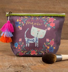 "Natural Life Canvas Pouch ""Meow"""
