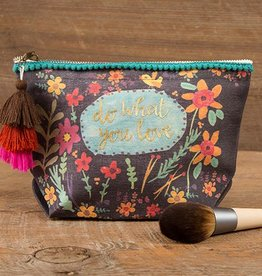 """Natural Life Canvas Pouch """"Do What You Love"""""""