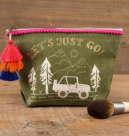 """Natural Life Canvas Pouch """"Let's Just Go!"""""""
