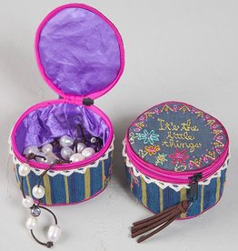"""Natural Life """"It's The Little Things"""" Jewelry Round Bag"""