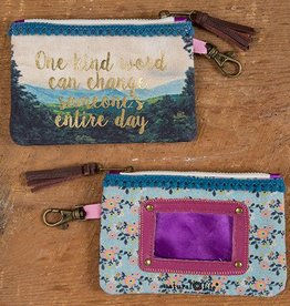 "Natural Life ID Pouch ""One Kind Word"""