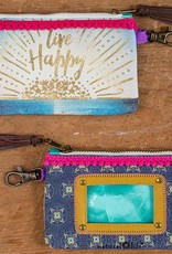 """Natural Life ID Pouch """"Live Happy"""""""