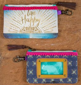 "Natural Life ID Pouch ""Live Happy"""