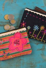 "Natural Life Fiesta Coin Pouch ""Live Happy"""