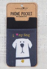 "Natural Life Phone Pocket ""I Love My Dog"""