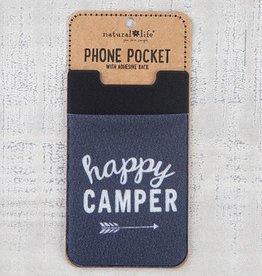 "Natural Life Phone Pocket ""Happy Camper"""
