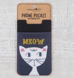 """Natural Life Phone Pocket """"Meow"""""""