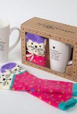 "Natural Life ""Every Home"" Cat Mug Gift Set"