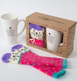 "Natural Life ""Every Home"" Cat Mug Gift Set"