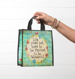 "Natural Life Gift Bag ""Life Does Not Have To Be Perfect"""
