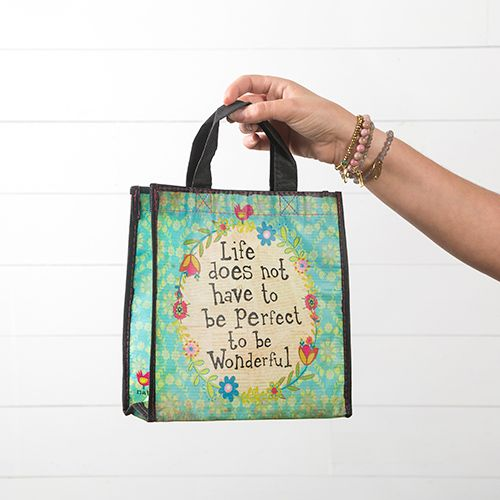 """Natural Life Gift Bag """"Life Does Not Have To Be Perfect"""""""