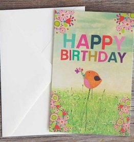 "Natural Life Greeting Card ""Happy Birthday"" Bird"