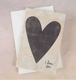 "Natural Life Greeting Card ""I Love You"" Heart"