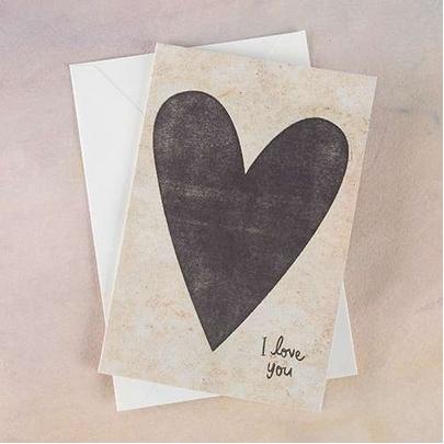 "Natural Life Greeting Card ""I Love You"" Heart"