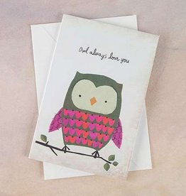 "Natural Life Greeting Card ""Owl Always Love You"""