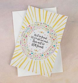 "Natural Life Greeting Card ""We'll Be Friends"""