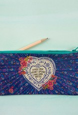"""Natural Life Recycled Pencil Bag """"When Your Heart Speaks"""""""