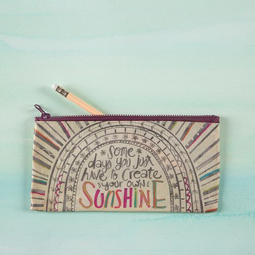 "Natural Life Recycled Pencil Bag ""Create Your Own Sunshine"""