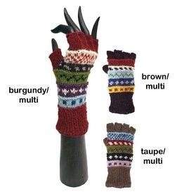 Yak & Yeti Stripe and Dot Knit Wrist Warmers