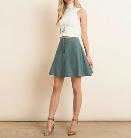 Gilli Soft Knit Mini A-Line Skirt with Snap Button