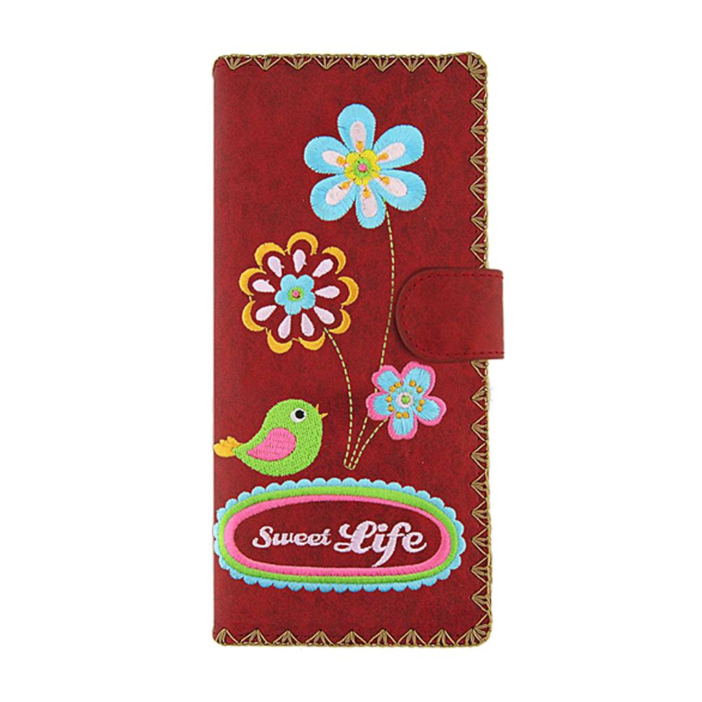 Lavishy Sweet Life Embroidered Large Wallet