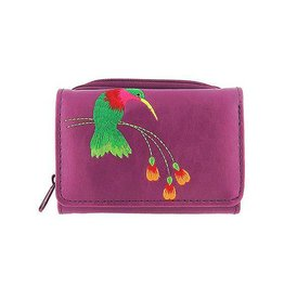 Lavishy Hummingbird Embroidered Small Wallet