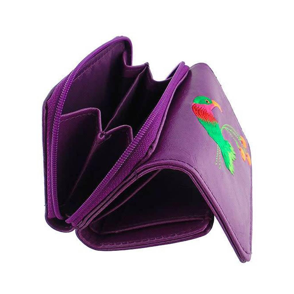Lavishy Hummingbird Embroidered Small Wallet
