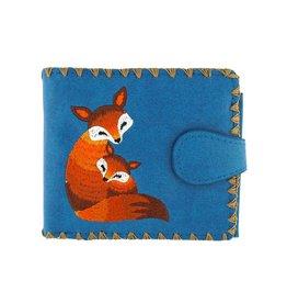 Lavishy Love Foxes Embroidered Medium Wallet